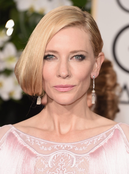 Cate Blanchett Pink Lipstick [hair,face,blond,hairstyle,eyebrow,shoulder,lip,skin,beauty,chin,arrivals,cate blanchett,beverly hills,california,beverly hilton hotel,golden globe awards,annual golden globe awards]