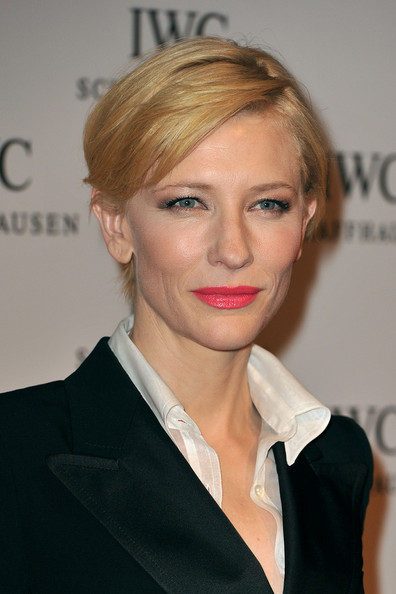 Cate Blanchett Short Side Part [hair,face,blond,hairstyle,eyebrow,lip,chin,skin,beauty,forehead,cate blanchett,iwc schaffhausen,portofino,palexpo hall,geneva,switzerland]