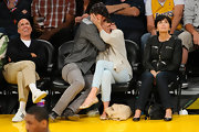 Jessica Biel's cute ballet flats were all we could see of her outfit while she and JT got some serious smooching on.