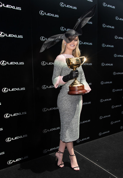 More Pics of Lady Kitty Spencer Decorative Hat (1 of 13) - Lady Kitty Spencer Lookbook - StyleBistro [kitty spencer,celebrities,lexus marquee,fashion,eyewear,dress,flooring,shoe,fashion design,melbourne cup day,melbourne,australia,flemington racecourse]