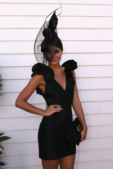 Jodi Gordon is ready for a derby with this decorative hat!