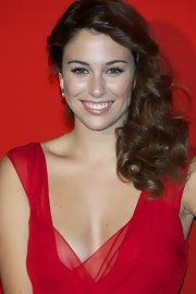 Blanca Suarez wore her lovely hair in a cute, curly 'do at the Dior Night party in Milan.