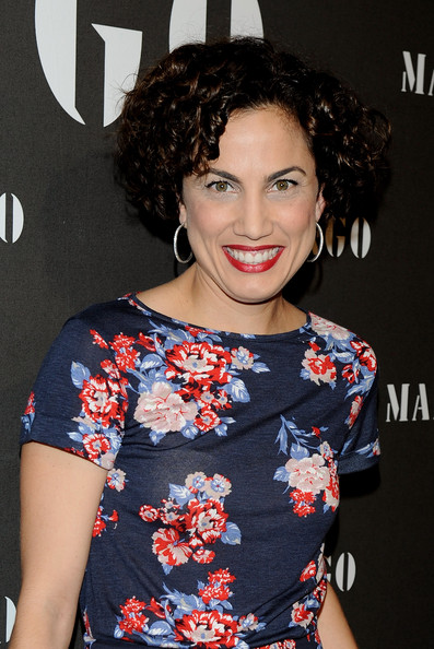 Toni Acosta showed off her short ringlets wile attending the Mango presentation in Madrid.