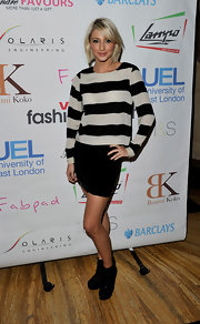 Actress Ali Bastian showed off this cute sidepart at the LFW Spring event.