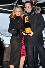 Barbara Schoeneberger wore a fur-trimmed coat at the 2012 Hahnenkamm Race Weekend.