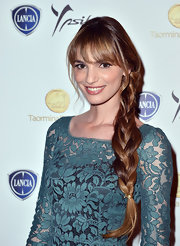 Gaia Bermani chose a long side braid to show off her light brown tresses.