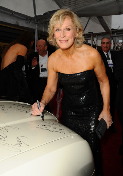 More Pics of Glenn Close Curled Out Bob (1 of 3) - Glenn Close Lookbook - StyleBistro [clothing,blond,dress,fashion,shoulder,leg,textile,muscle,little black dress,haute couture,chrysler 300 eco style,sign charity car at 67th annual golden globe awards,car,celebrities,glenn close,cause,stars,seven,existence,golden globe awards]