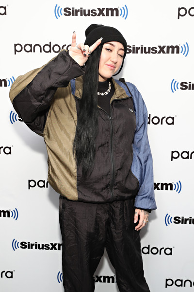 More Pics of Noah Cyrus Zip-up Jacket (1 of 16) - Noah Cyrus Lookbook - StyleBistro [clothing,outerwear,cool,jacket,headgear,cap,celebrities,noah cyrus,coverage,new york city,siriusxm,siriusxm studios]