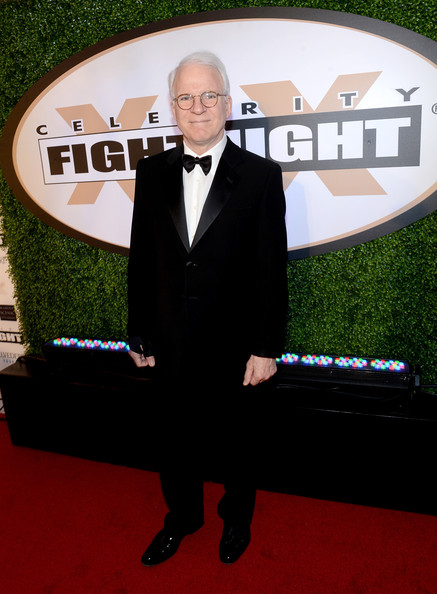 Steve Martin chose a classic tuxedo for his red carpet look at Celebrity Fight Night.