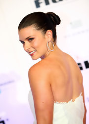 Danica showed off her sleek twisted bun, which was a great way to show off her strapless white dress.