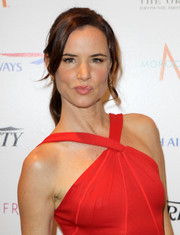 Juliette Lewis visited the Variety Studio wearing her hair in a pretty ponytail with side-swept bangs.