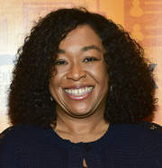Shonda Rhimes attended the opening night performance of 'Quack' wearing a voluminous curly 'do.