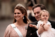 Princesses and jewelry go hand in hand.  Here Princess Madeleine rocks a tiara and stunning dangling earrings.