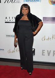 Star Jones chose this strapless jumpsuit for her retro-inspired look at Chaka Khan's birthday bash.