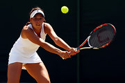 Beatrice Capra wore a white athletic tank for Wimbledon 2009.
