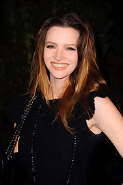 Talulah Riley attended the Chanel and Charles Finch pre-Oscar Dinner wearing a muted orange lipstick.