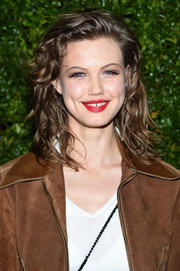 Lindsey Wixson looked youthful with her shoulder-length curls at the Tribeca Film Festival Chanel dinner.