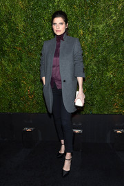 Lake Bell attended the Tribeca Film Festival Chanel dinner looking laid-back in black skinny jeans.