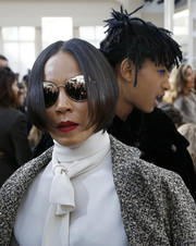 Jada Pinkett Smith sported a super-neat, face-framing bob at the Chanel fashion show.