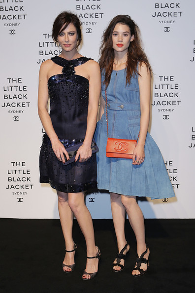 Astrid Berges-Frisbey rocked a gorgeous pair of black open-toe strappy sandals at the Chanel exhibition.