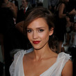 Jessica Alba's Almost-Burgundy Red Lipstick