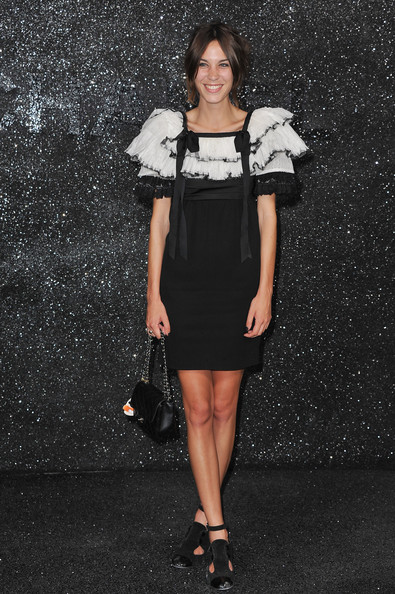 Alexa Chung at the Chanel Haute Couture Fall/Winter 2011/2012 show