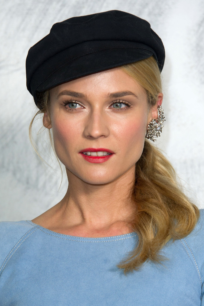 Diane Kruger attends the Chanel Haute-Couture show as part of Paris Fashion Week Fall / Winter 2012/13 at the Grand Palais on July 3, 2012 in Paris, France.