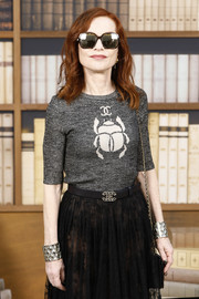 Isabelle Huppert looked cool wearing these square shades at the Chanel Couture Fall 2019 show.