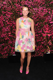 Annabelle Dexter-Jones' fun floral frock gave her a sweet and flirty vibe on the red carpet.