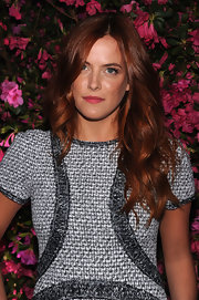 Riley Keough showed off her auburn locks with this soft, wavy style.