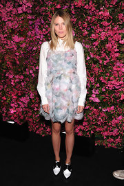 Dree Hemingway chose a pastel chiffon dress to pair over a white button down, for her cool and stylish look at the Chanel Tribeca Film Festival Artists Dinner.