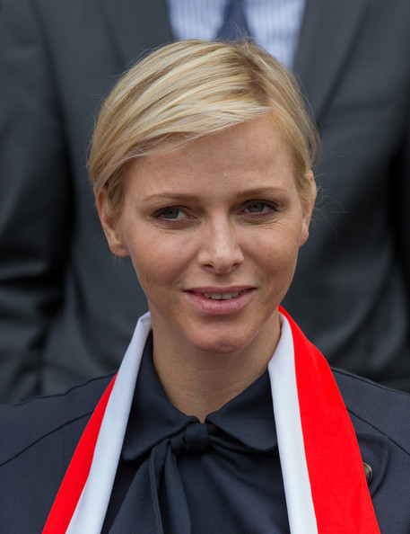 Charlene Wittstock Side Parted Straight Cut [charlene of monaco on official visit,albert ii of monaco,princess,cathedrale santa maria assunta,hair,official,hairstyle,blond,chin,forehead,spokesperson,white-collar worker,smile,comb over,corsica,st devote,lucciana,france,la canonica,ceremony]