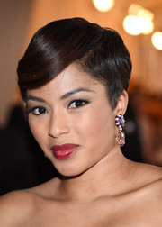 Alicia Quarles styled her short locks with subtle waves and side-swept bangs for the Met Gala.