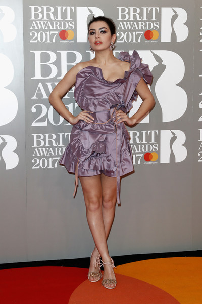 Charli XCX One Shoulder Dress