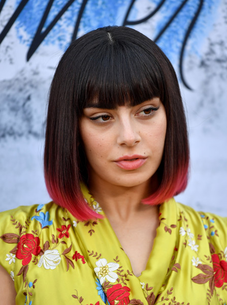 Charli XCX Mid-Length Bob [hair,hairstyle,bangs,beauty,lady,black hair,yellow,bob cut,long hair,layered hair,charli xcx,england,london,serpentine galleries,chanel,summer party,red carpet arrivals,the serpentine gallery,the summer party]