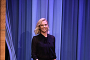 Charlize Theron Pussybow Blouse