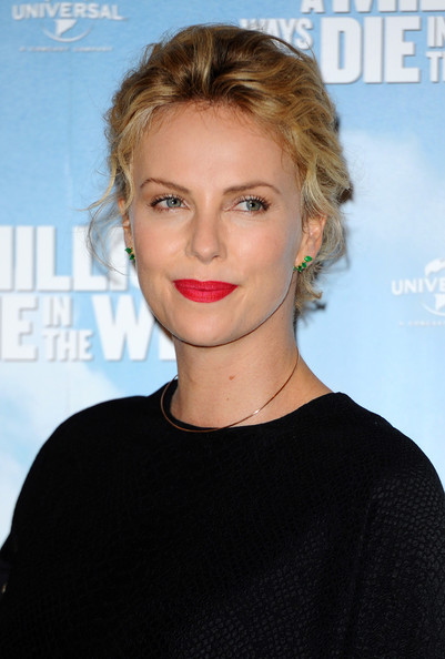 Charlize Theron Pinned Up Ringlets