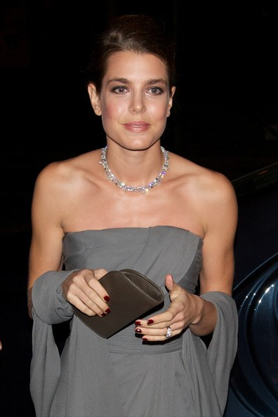 Charlotte Casiraghi wore a stunning diamond necklace at the Cartier exhibition in Madrid.