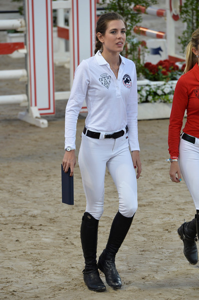 Charlotte Casiraghi Flat Boots [white,uniform,footwear,riding boot,leg,sleeve,sports,championship,competition event,knee,charlotte casiraghi,monte-carlo jumping,monaco,longines,global champions tour,longines proam cup monaco,monaco day two,international monte-carlo jumping]