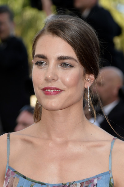Charlotte Casiraghi Dangling Diamond Earrings [rocco and his brothers premiere - the 68th annual cannes film festival,rocco and his brothers restoration premiere,hair,face,hairstyle,eyebrow,shoulder,beauty,blond,lip,chin,skin,charlotte casiraghi,cannes,france,cannes film festival]
