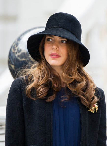 Charlotte Casiraghi Cloche [clothing,hair,hat,fedora,street fashion,beauty,fashion accessory,fashion,sun hat,headgear,charlotte casiraghi,monaco national day,ceremony,monaco palace courtyard]