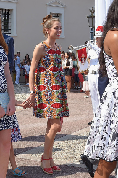 Charlotte Casiraghi Wedges [prince albert of monaco celebrates 10 years on the throne,first day,white,clothing,fashion,lady,dress,footwear,eyewear,leg,summer,vacation,charlotte casiraghi,monaco,10th anniversary,throne celebrations]