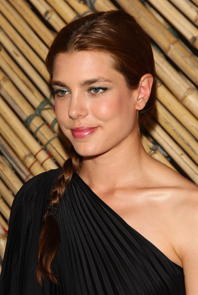 Charlotte Casiraghi Metallic Eyeshadow