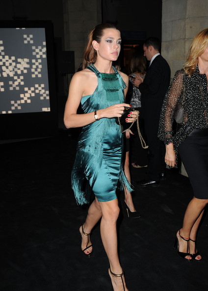 Charlotte Casiraghi Smoky Eyes [clothing,dress,fashion,shoulder,cocktail dress,leg,hairstyle,event,fashion model,thigh,charlotte casiraghi,opening,gucci museum opening in florence - arrivals,gucci museum,florence,italy]