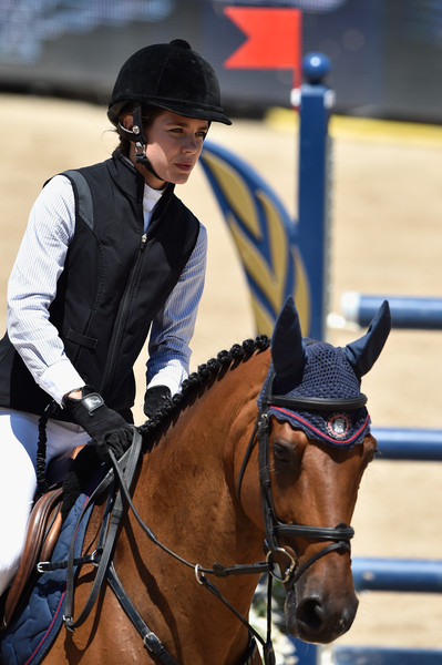 Charlotte Casiraghi Vest [horse,halter,bridle,rein,mammal,vertebrate,equestrian,horse supplies,horse tack,animal sports,charlotte casiraghi,monte-carlo jumping,ramsexy z,monaco,monaco day one,longines,global champions tour,competition]
