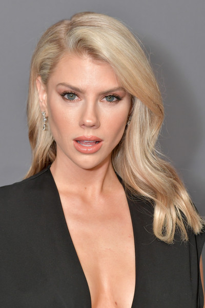 Charlotte McKinney Long Wavy Cut [hair,face,blond,hairstyle,eyebrow,chin,lip,beauty,shoulder,skin,arrivals,charlotte mckinney,new york city,cipriani wall street,amfar new york]