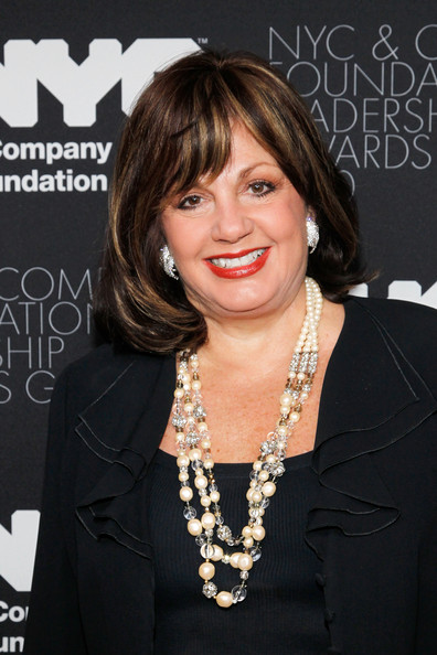 Charlotte St. Martin Glass Beaded Necklace [hair,hairstyle,bangs,blond,layered hair,black hair,premiere,little black dress,long hair,bob cut,red carpet,broadway league,new york city,the plaza hotel,nyc company foundation leadership awards gala,charlotte st. martin]