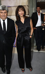Sophie Marceau's black jumpsuit made the ultimate chic fashion statement.