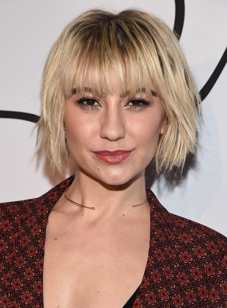 Chelsea Kane Layered Razor Cut [tyler ellis celebrates 5th anniversary and launch of tyler ellis,chelsea kane,hair,face,hairstyle,blond,bangs,layered hair,eyebrow,chin,beauty,long hair,california,los angeles,chateau marmont,petra flannery collection]