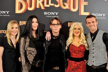 Christina Aguilera Cam Gigandet Cher and Christina Aguilera Attend 'Burlesque' Photocall